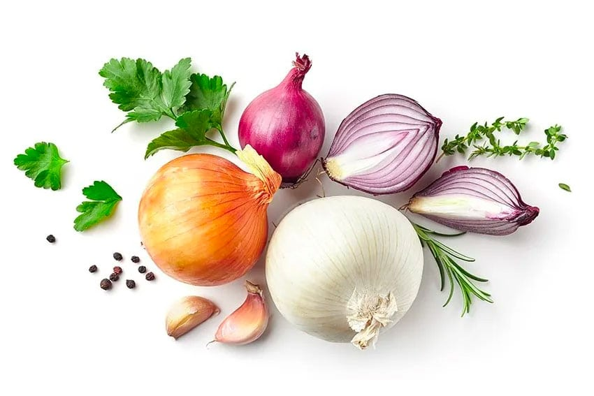 selection of onions